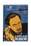 Russian Movie Poster Depicting Aleksandr Popov Giclee Print