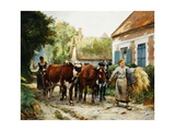 Returning from the Fields Giclee Print by Julien Dupre