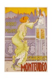 Montevideo Cigarrillos Poster Giclee Print by J. Borro