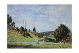 The Railroad Tracks to Sevres Giclee Print by Alfred Sisley