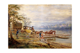 Waiting for the Ferry Giclee Print by Edward Lamson Henry