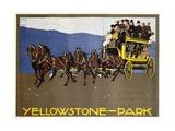Yellowstone-Park Poster Lámina giclée por Hohlwein, Ludwig