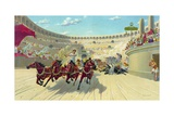 The Ben Hur Chariot Race Giclee Print