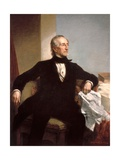 Official White House Portrait of President John Tyler Reproduction procédé giclée par George Peter Alexander Healy