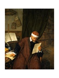 A Lawyer Seated at a Desk Reading a Letter Giclee Print by Adriaen Van Ostade