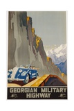 Georgian Military Highway Poster Giclee Print by Alexander Jitomirsky