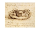 Drawing of Tank-Like Vehicle Giclee Print by  Leonardo da Vinci