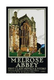 Melrose Abbey Poster Giclee Print by Frank Newbould