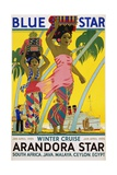 Blue Star Arandora Star Poster Giclee Print by Kenneth Shoesmith