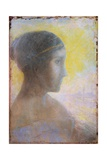 Head of a Young Woman in Profile Giclee Print by Odilon Redon