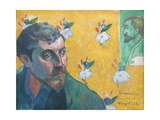 Self-Portrait with Portrait of Bernard (Les Miserables) Giclee Print by Paul Gauguin