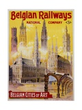 Belgian Railways - Belgian Cities of Art Poster Giclee Print by S. Rader