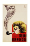 Russian Movie Poster Depicting a Child Smoking a Pipe Giclee Print