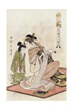 The Hour of the Dog, from the Series Twelve Hours of the Green Houses Giclee Print by Kitagawa Utamaro