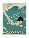 Swim! Poster Giclee Print by Anita Parkhurst