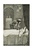 Illustration Depicting the Prince Discovering Sleeping Beauty Giclee Print by Peter Newell