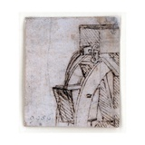 Study of Machine Giclee Print by  Leonardo da Vinci