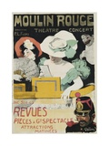Moulin Rouge Poster Giclee Print by Jules-Alexandre Grün