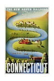 Connecticut Poster Giclee Print by Ben Nason