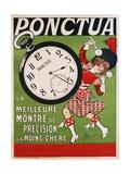 Ponctua Poster Giclee Print by Rene Prejelan