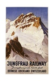 Jungfrau Railway Poster Giclee Print by E. Hovel