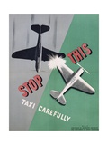 Stop This, Taxi Carefully Work Safety Poster Giclee Print