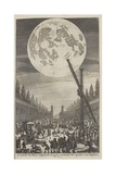 Etching of Lunar Disk Giclee Print by Jan Goeree