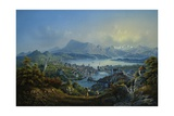 General View of the Town and Lake of Lucerne Giclee Print by Johann Ludwig Bleuer
