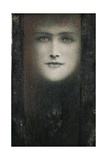 The Mask of the Black Curtain Giclee Print by Fernand Khnopff