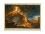 The Eruption of Vesuvius Giclee Print by Francesco Fidanza