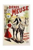 Bieres De La Meuse Poster Reproduction procédé giclée