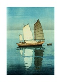 Afternoon, from a Set of Six Prints of Sailing Boats Giclee-trykk av Hiroshi Yoshida