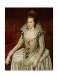 Portrait of Queen Anne of Denmark Giclee Print by John De Critz