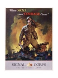Signal Corps Recruitment Poster Giclee Print by Jes Schlaikjer