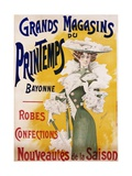 Grands Magasins Du Printemps Bayonne Fashion Poster Giclee Print by Alfred Choubrac