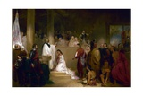 Baptism of Pocahontas Giclee Print by John Gadsby Chapman