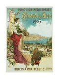 Carnaval De Nice Poster Giclee Print by Hugo D'Alesi