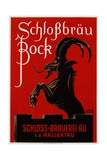 Schlossbrau Bock Beer Advertisement Poster Giclee Print by O.V. Kress