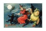 Hallowe'en Postcard Giclee Print