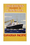 Duchess Steamships to Canada Poster Giclee Print