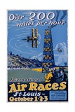 International Air Races Poster Giclee Print by Carl Dalter