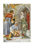 Robin Hood as the Potter Book Illustration Giclee Print by Walter Crane