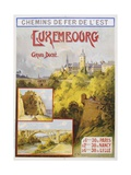 Luxembourg Travel Poster Giclee Print by E. Bourgeois