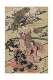 A Daimyo's Mansion Giclee Print by Utagawa Toyohiro
