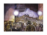Rescue Workers at World Trader Center Site Giclee Print