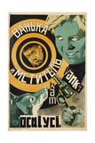 Soviet Film Poster Showing Man with Gun and Dog Giclee Print