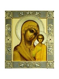 Russian Icon of the Virgin Kazanskaya Giclee Print by Dmitrii Smirnov