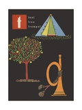 T Is for Tent Tree Trumpet Giclee Print