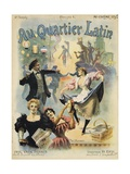 Au Quarter Latin Poster Giclee Print by Paul Merwart