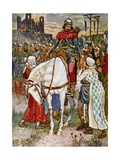 Book Illustration from Robin Hood Giclee Print by Walter Crane